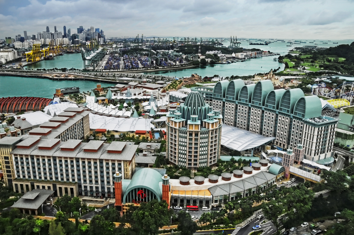 Sentosa viewed from the Tiger Sky Tower, Sentosa, Singapore