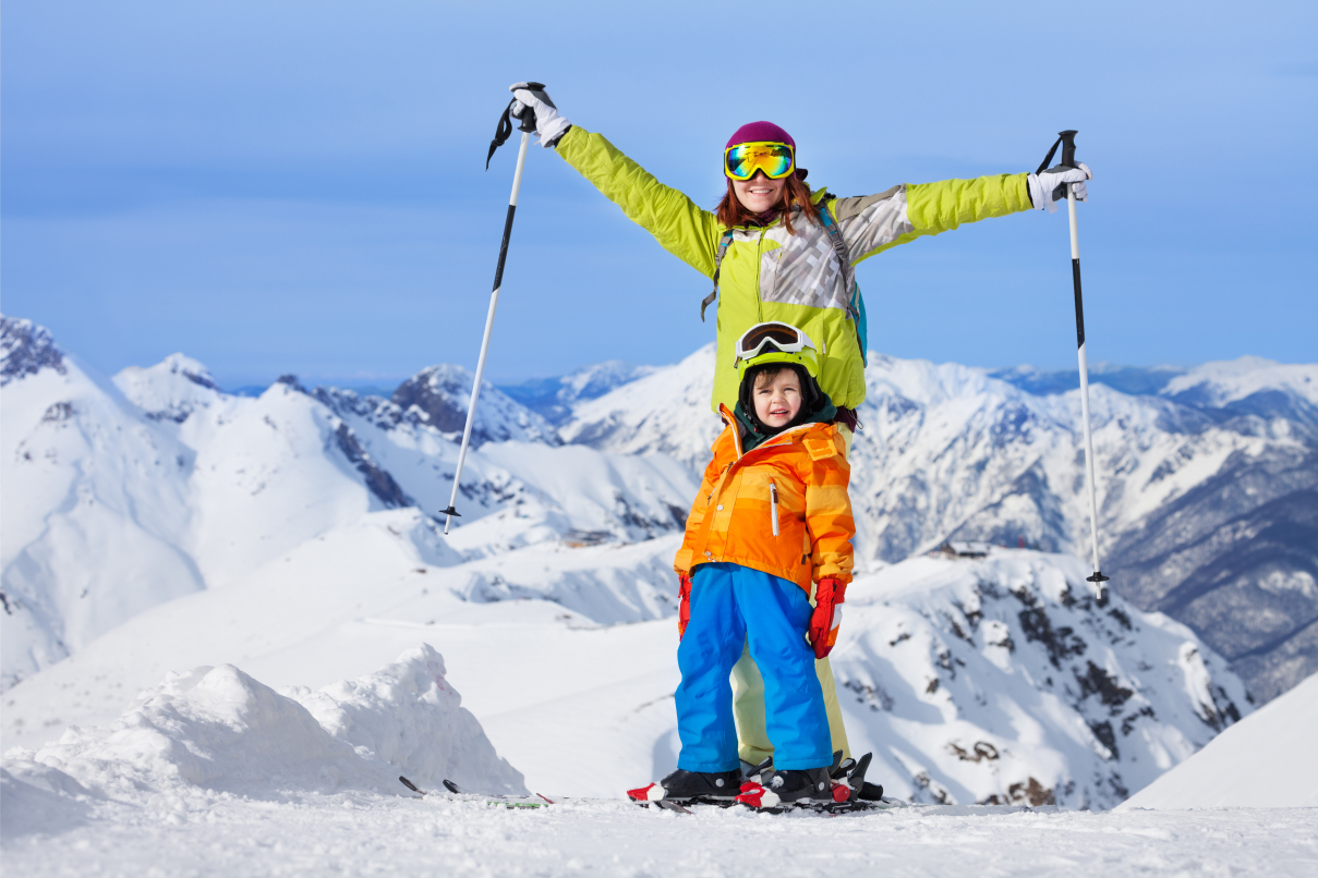 Skiing with a kid