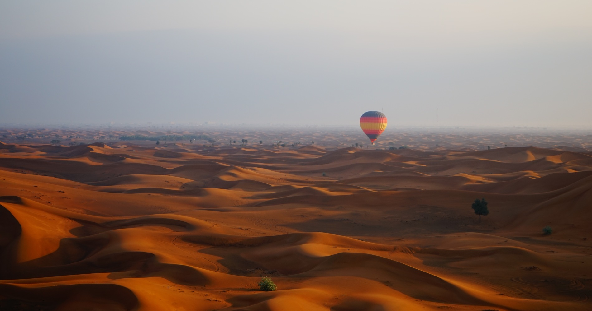 hot Air Balloon Flight over the Dubai desert